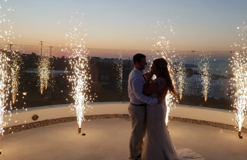 santorini wedding event